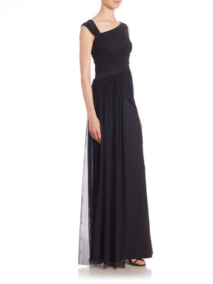 Ester Draped Overlay Gown