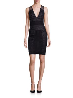 Grid Laser-Cut Sheath Dress