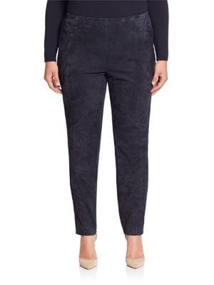 Punto Milano Suede-Front Leggings plus size,  plus size fashion plus size appare