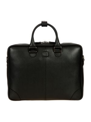 Varese Business Saffiano Leather Small Briefcase