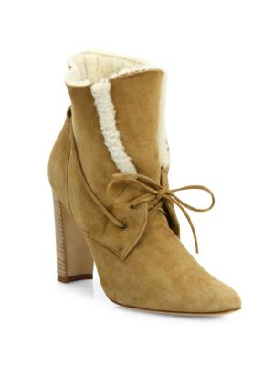 Ostrava Suede & Shearling Booties