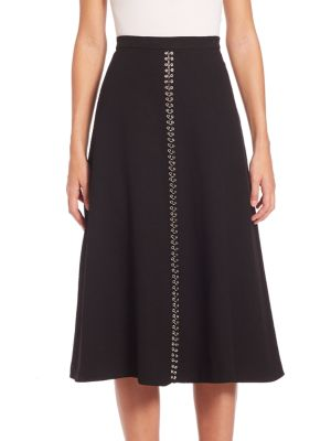 A-Line Embroidered Skirt