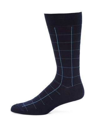 Lambeth Motif Windowpane Socks
