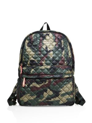mz wallace female 227429 metro camo quilted nylon backpack