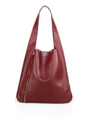 elena ghisellini female  estia leather zip hobo bag