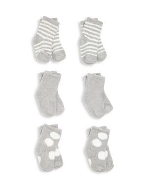 Baby's Six-Pair Socks Set