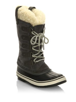 WOMEN'S JOAN OF ARCTIC SUEDE & SHEARLING COLD WEATHER BOOTS