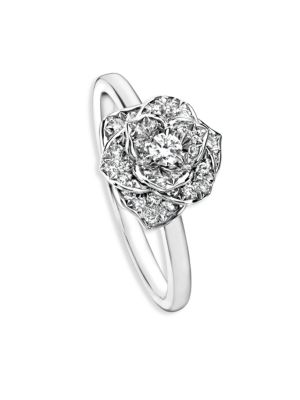 Rose Diamond & 18K White Gold Ring