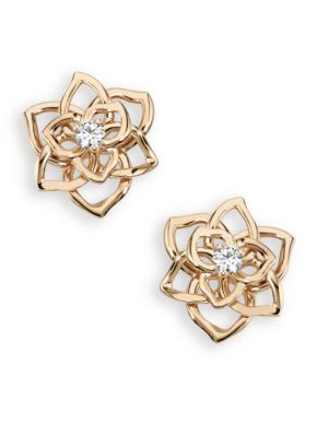 Rose Diamond & 18K Rose Gold Stud Earrings