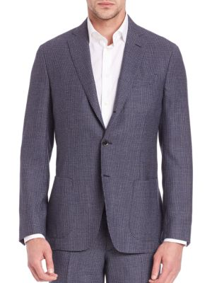 COLLECTION Micro Checked Wool Jacket