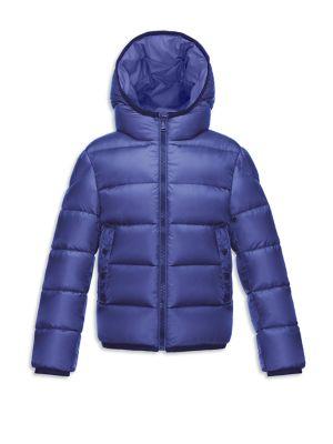 Little Boy's & Boy's Serge Hooded Down Puffer Jacket
