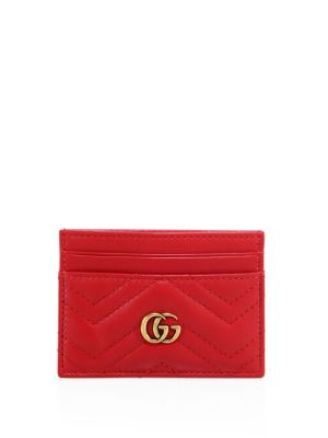gucci female quilted leather card case