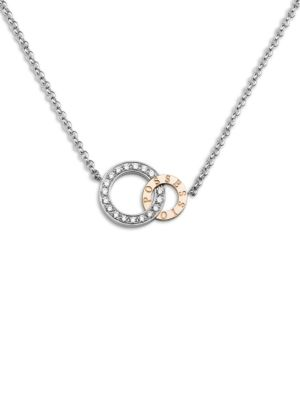 Possession Diamond, 18K White & Rose Gold Pendant Necklace