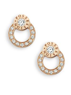 Possession Diamond & 18K Rose Gold Stud Earrings