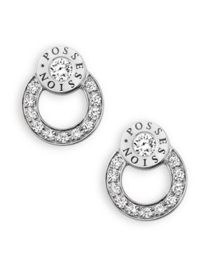 Possession Diamond & 18K White Gold Stud Earrings
