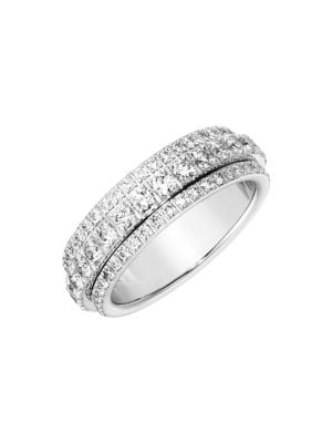 Piaget Possession Bandeau Diamond Ring in 18K White Gold, Size 54