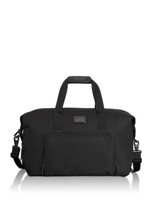 ALPHA BLACK DOUBLE EXPANSION TRAVEL SATCHEL