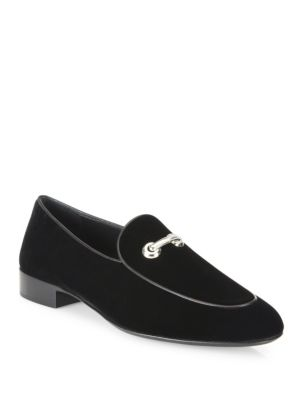 Velvet Slip-On Shoes