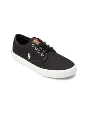Kid's Leather Trim Low-Top Sneakers