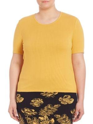 Classic-Fit Solid Tee plus size,  plus size fashion plus size appare
