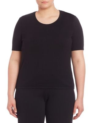 Classic-Fit Wool Tee plus size,  plus size fashion plus size appare