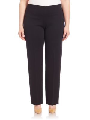Solid Woolen Trousers plus size,  plus size fashion plus size appare