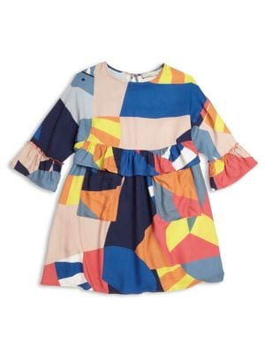 Toddler's, Little Girl's & Girl's Colorblock Dress