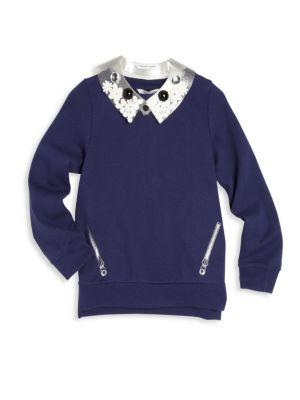 marc jacobs kids  toddlers little girls girls embellished milano sweatshirt