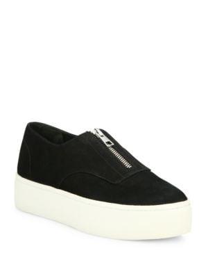 Warner Zip Suede Platform Sneakers