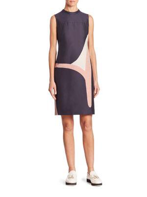 Coastal Chart Print Sleeveless Dress