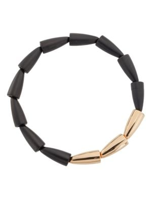 VHERNIER Calla Wood & 18K Rose Gold Necklace