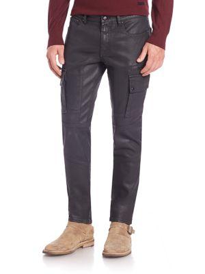 Glenmere Slim-Fit Moto Jeans