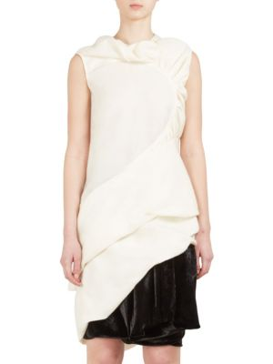 Sleeveless Ruched Combo Top