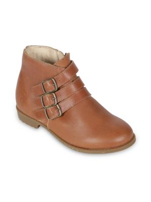 Toddler's & Kid's Leather Booties