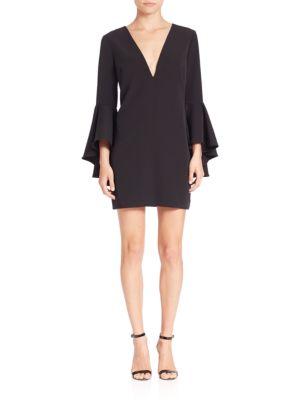 Italian Cady Nicole Bell Sleeve Dress