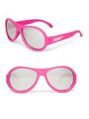 Kid's Aces Solid Aviator Sunglasses