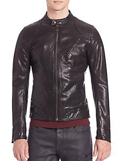 chanel mini flap bag replica - Men - Apparel - Coats & Jackets - Leather & Shearling - saks.com