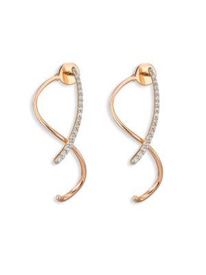 Spectrum Diamond & 14K Rose Gold Front-&-Back Earrings
