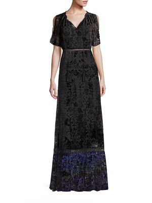 Charlize Velvet Burnout Maxi Dress