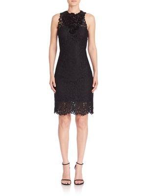 Donna Embellished Lace Sheath Dress