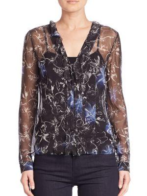 Verda Floral Silk Blouse