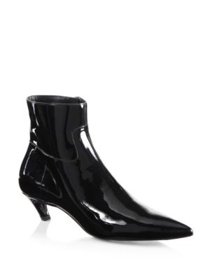 Broken Heel Patent Leather Booties