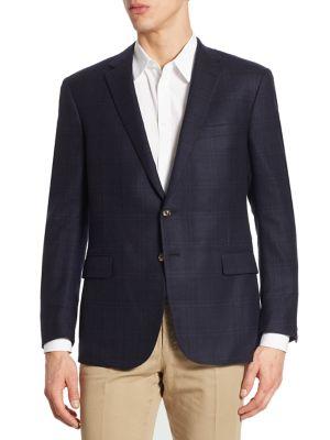 Nigel Regular-Fit Plaid Wool Sportcoat