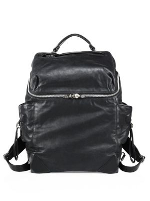Wallie Lambskin Leather Backpack
