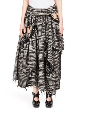 Textured Long Skirt plus size,  plus size fashion plus size appare