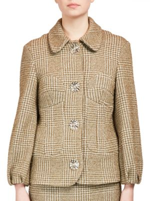 Textured Jacket with Large Buttons