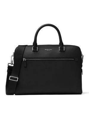 michael kors male harrison leather briefcase
