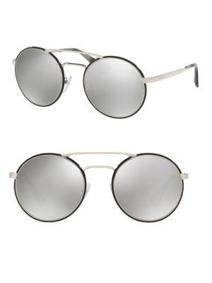 54MM Oversized Round Mirrored Sunglasses