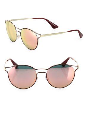 Cinema 53MM Phantos Mirrored Sunglasses
