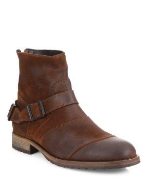 Belstaff Trialmaster皮质踝靴